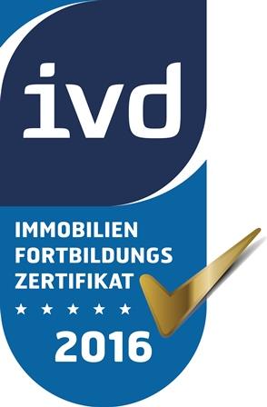 Immobilien Fortbildungs-Zertifikat IVD - Poschmann Immobilien