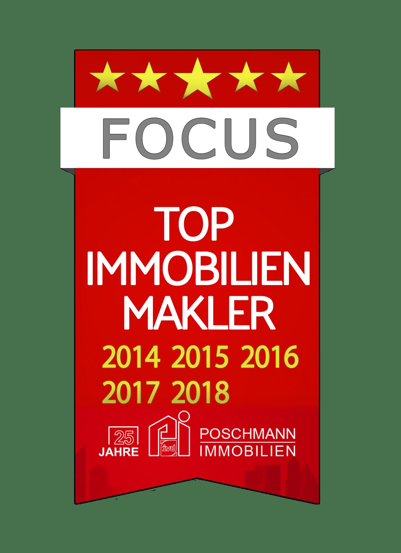 Poschmann Immobilien - Focus Top-Makler 2018