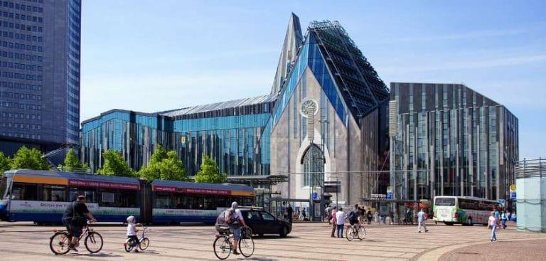 Blick auf den Leipziger Augustusplatz