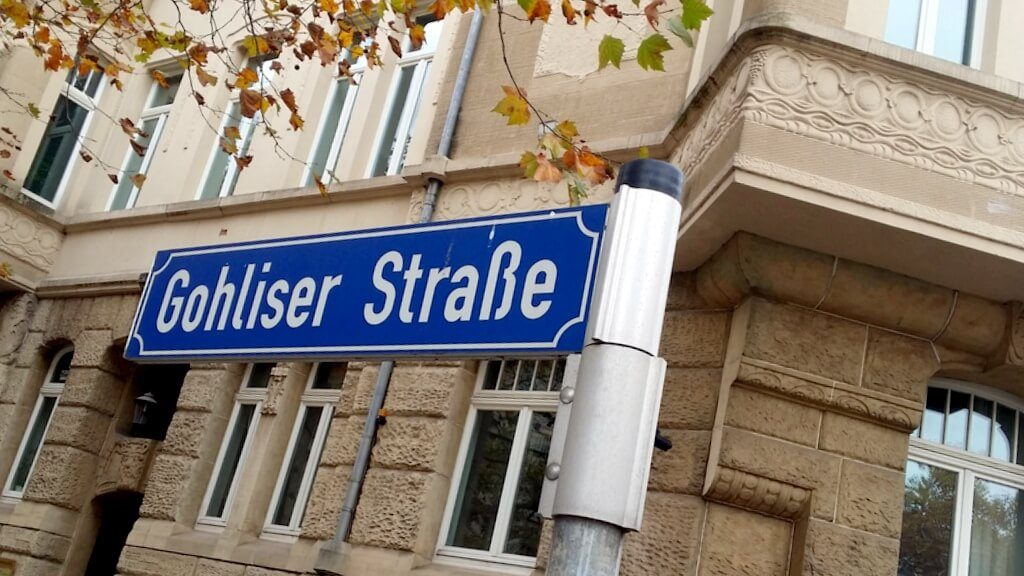 Strassenschild Gohliser Straße