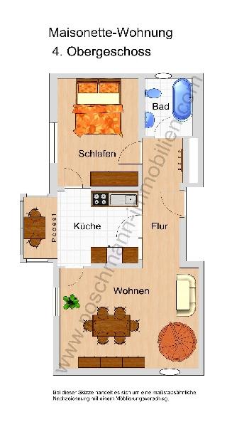 Grundriss Maisonette Wohnung