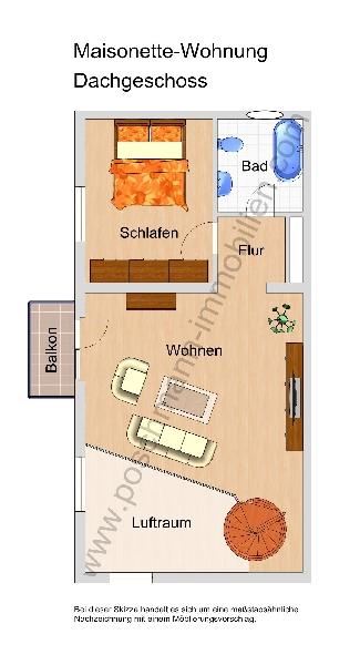 Grunriss Maisonette Wohnung